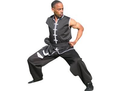 Sleeveless Kung Fu Uniform Set, Poly/Cotton (Style 102-B)