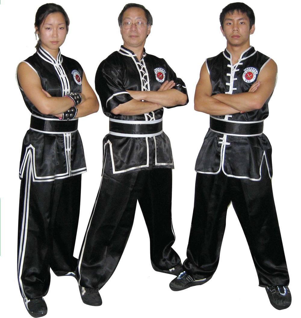 Sleeveless Uniform Set, Satin Double Trim (103-A)