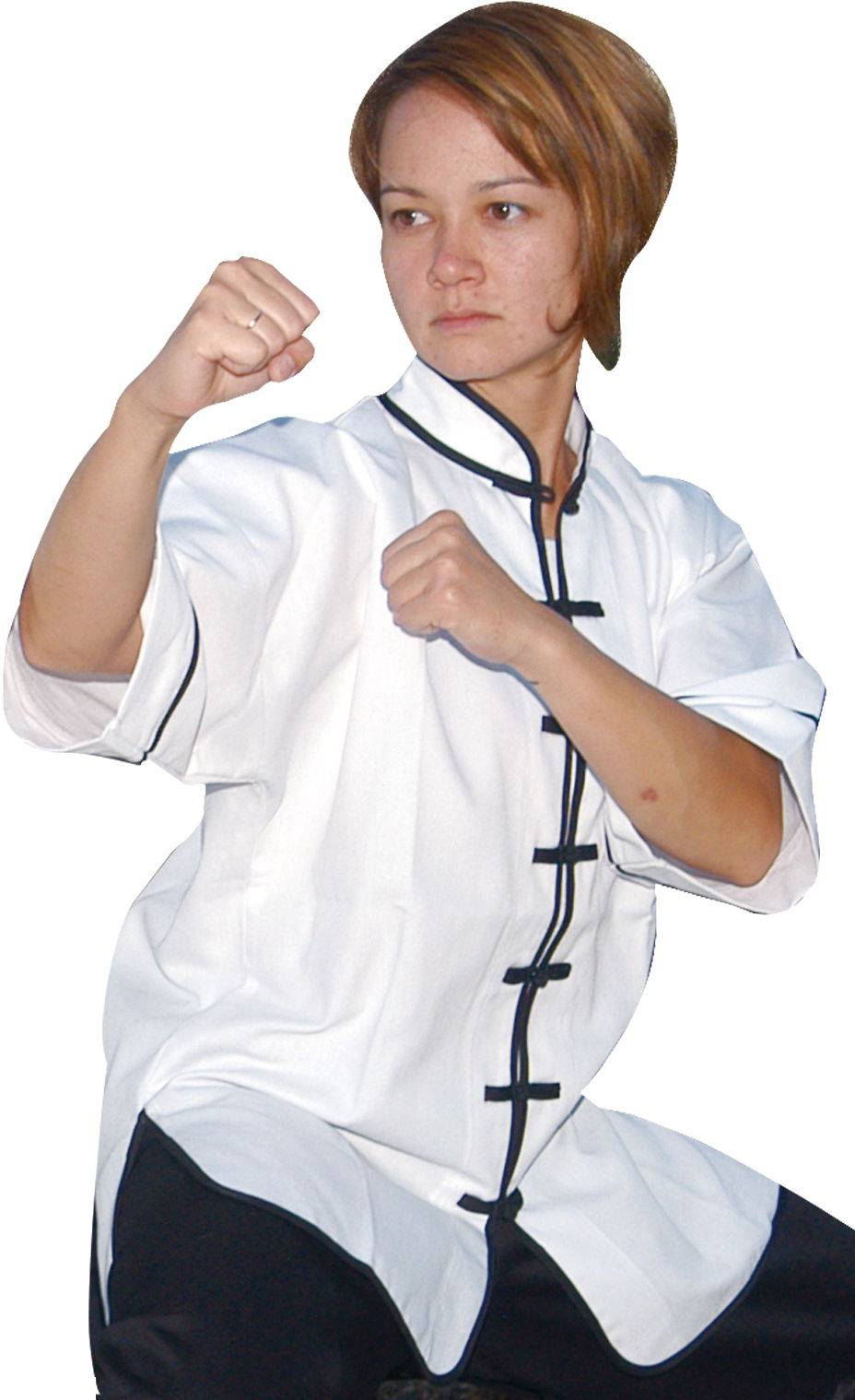 Kung Fu Uniform Top with Short Sleeve (Style 107-B2)