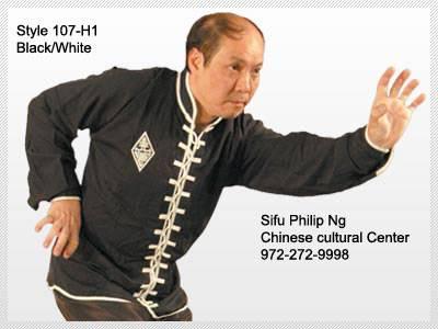 Style 107-H1, Hung Ga Uniform with Diamond Patch