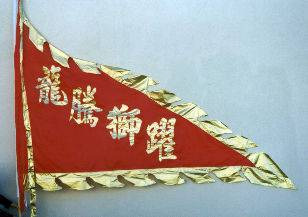 Style BA-01 Lion Dance Flag (6' x 9')- Triangle Design