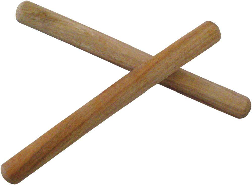 Wooden drum sticks with blunt ends 11""